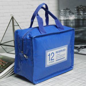 Сумка-термо, отдел на молнии, цвет синий
