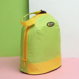 Сумка-термо, отдел на молнии, цвет жёлтый/зелёный