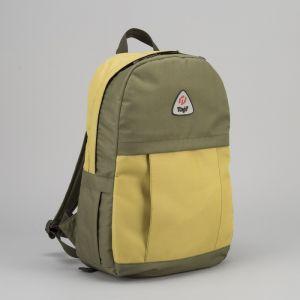 Рюкзак туристический, 21 л, отдел на молнии, наружный карман, цвет оливковый/золотой
