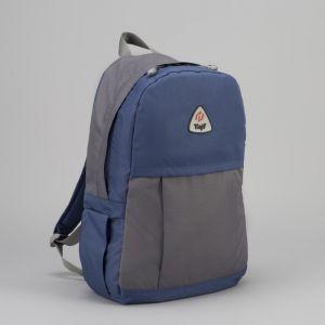 Рюкзак туристический, 21 л, отдел на молнии, наружный карман, цвет синий/серый