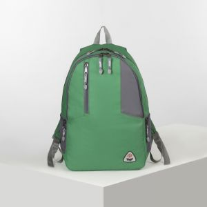 Рюкзак турист Латес 3,35л, , 2 отд на молниях, н/карман, серый/зеленый 4931706