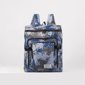 Рюкзак туристич Герман, 32*15*42, отд на молнии, 2 н/кармана, голубой   4488123