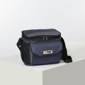 Сумка тур IDE 3, 28*20*21, отд на молнии, н/карман, 2 бок сетки, синий/серый 4931750