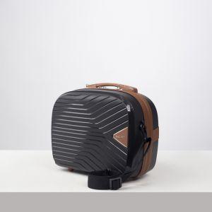 Бьюти-кейс , отдел на молнии, цвет чёрный