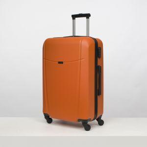 """Чемодан большой 26"""", отдел на молнии, кодовый замок, 4 колеса, цвет оранжевый"""
