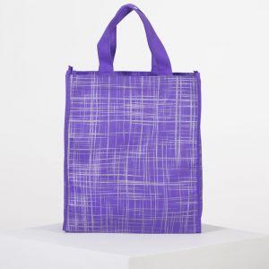 Сумка хозяйственная, отдел без молнии, цвет фиолетовый