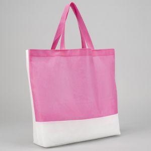 Сумка хозяйственная, отдел без молнии, цвет белый/розовый