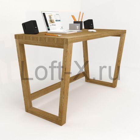 """Рабочий стол """"Трапеция"""" из массива дуба."""