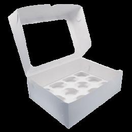 Короб картонный под 12 капкейков  250*300*100мм С ОКНОМ
