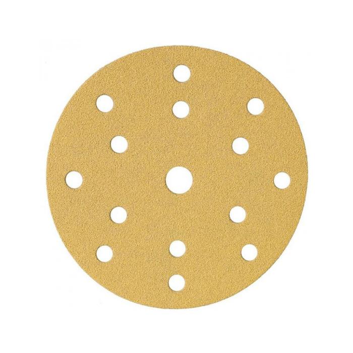 Schtaer Абразивные круги на липучке диаметр 150 мм., 15 отверстий, упаковка 5 шт., градация зерна P60