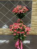 Букет из 15 роз кустовых розовых