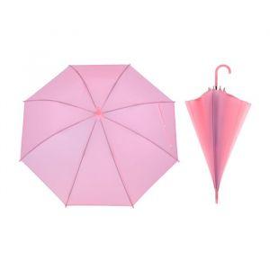 Зонт детский полуавтоматический «Однотонный», r=41см, цвет розовый