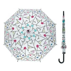 Зонт детский полуавтоматический «Разноцветные кружочки», r=43см, МИКС