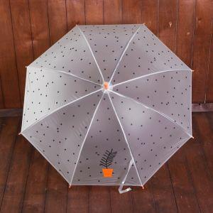 Зонт детский полуавтоматический «Растение в горшочке», r=44см, цвет оранжевый