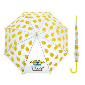 Зонт детский «Ананасики», полуавтоматический, r=45см, цвет жёлтый