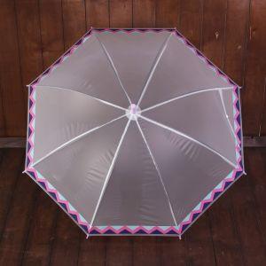 Зонт детский «Ацтекские рисунки», полуавтоматический, r=45см, цвет серый