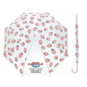 Зонт детский полуавтоматический «Морковки», r=45см, цвет розовый