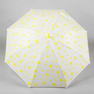 Зонт детский «Горошек», жёлтый