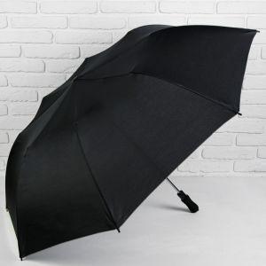 Зонт полуавтоматический, 3 сложения, 8 спиц, R = 62 см, цвет чёрный