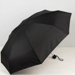 Зонт механический мини «Однотонный», 5 сложений, 8 спиц, R = 45 см, цвет МИКС