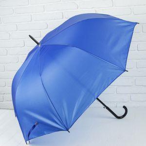 Зонт - трость полуавтоматический «Классика», 8 спиц, R = 58 см, цвет синий