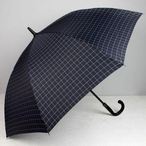Зонт полуавтоматический, 8 спиц, R = 60, цвет чёрный