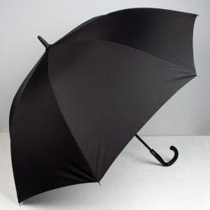 Зонт полуавтоматический «Однотонный», 8 спиц, R = 60, цвет чёрный
