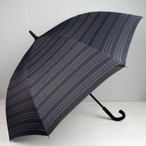 Зонт полуавтоматический, 8 спиц, R = 60, цвет чёрный/серый