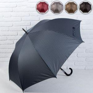 Зонт - трость полуавтоматический «Полоски», 8 спиц, R = 60 см, цвет МИКС