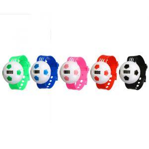 """Часы наручные """"Футбольный мяч"""", с силиконовым ремешком, микс, 22 см 3102583"""