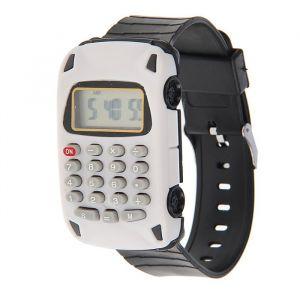 """Часы наручные детские """"Машинка"""", электронные, ремешок силикон, с калькулятором, микс l=22 см 1716875"""