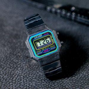 """Часы наручные детские """"Сказка"""", электронные, с силиконовым ремешком, черные 19см (2,5*2 см) 839201"""