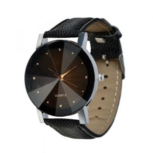 "Часы наручные ""Масатан"", кварцевые, чёрные, стекло гранью, d=3,2 см 3620869"