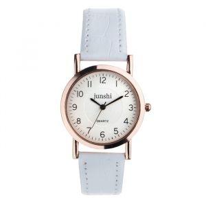 """Часы наручные женские """"Аннеси"""", d=3.5 см, белый ремешок   4597402"""