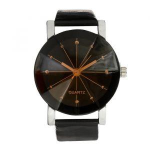 """Часы наручные женские """"Грань"""" d=3.1 см черные  4407098"""