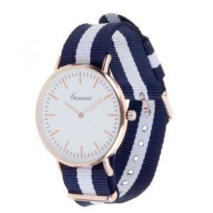 """Часы наручные женские """"Женева"""", белый циферблат, ремешок текстиль 3621075"""