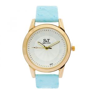 """Часы наручные женские """"СиТ"""", циферблат d=3,6 см, голубые   4407061"""