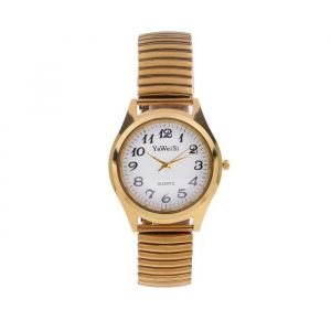"""Часы наручные женские, браслет """"резинка""""  золото 4940182"""