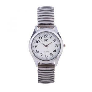"""Часы наручные женские, браслет """"резинка"""" серебро  4407085"""