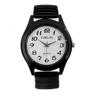 """Часы наручные женские, браслет """"резинка"""" черные     4407086"""