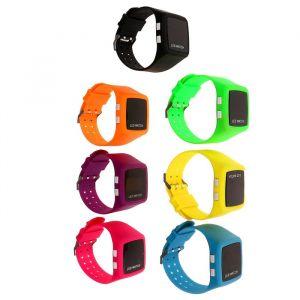 Часы наручные электронные, квадратные, силиконовый ремешок, 4 кнопки, микс 3102582