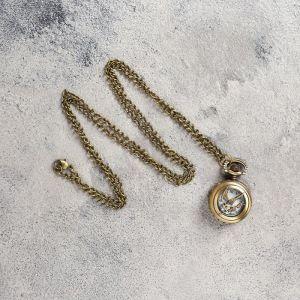 Карманные кварцевые часы «Птица со стрелой», на цепочке 80 см
