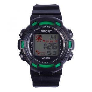 """Часы наручные """"Sport-2"""", электронные, с силиконовым ремешком и календарем, l=22 см   4452576"""
