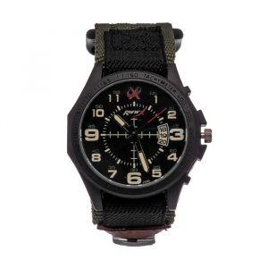 """Часы наручные мужские """"Rww"""" с компасом и датой d=4.1 см, ремешок на липучке, микс   4429142"""