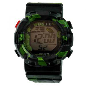 """Часы наручные мужские """"Защитник"""", электронные, с силиконовым ремешком, микс 3912767"""