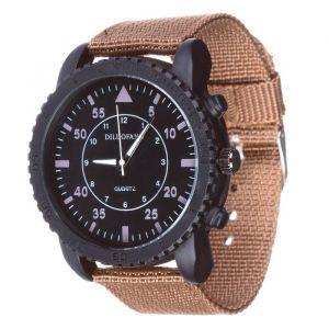 """Часы наручные мужские """"Солдат"""" коричневые, d=4.5 см, ремешок текстиль 22 мм 3620995"""