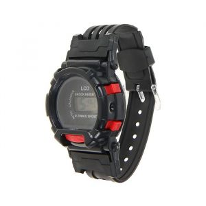 Часы наручные черные с красными вставками 24см 1965379