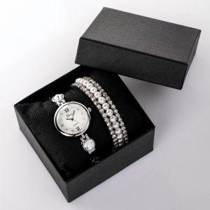 """Подарочный набор 2 в 1 """"Майрана"""": наручные часы и браслет   4508134"""