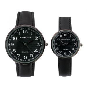 """Часы наручные, """"Лампири"""", парный набор для нее и для него, черные   4407068"""