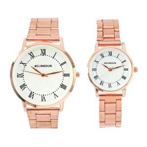 """Часы наручные, """"Олимпиас"""", парный набор для нее и для него, золотые   4407072"""